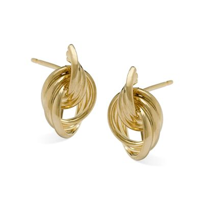 Door Knocker-Style Earrings in 14kt Yellow Gold, , default