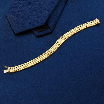 "Men's 14kt Yellow Gold Link Bracelet. 8"", , default"