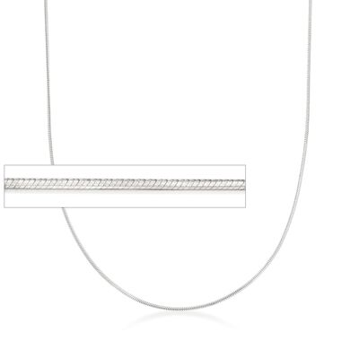 Italian 1mm Sterling Silver Adjustable Slider Square Snake Chain Necklace, , default