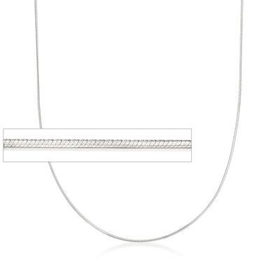 Italian 1mm Sterling Silver Adjustable Slider Square Snake Chain Necklace, , default