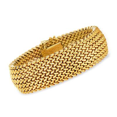 C. 1990 Vintage 14kt Yellow Gold Mesh Bracelet