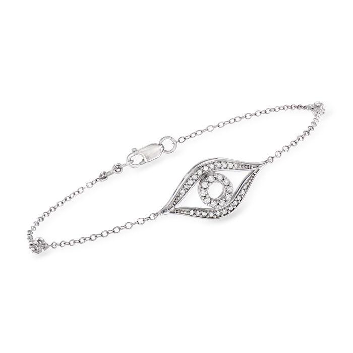.24 ct. t.w. Diamond Evil Eye Bracelet in Sterling Silver