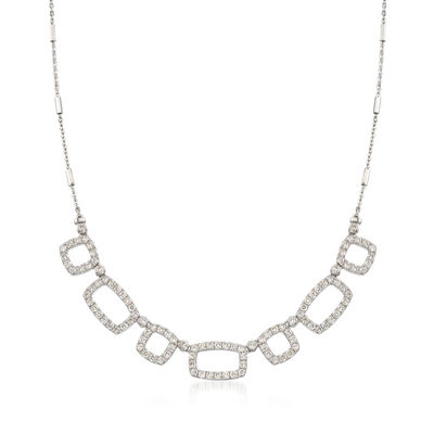 2.50 ct. t.w. Diamond Alternating Square and Rectangle Necklace , , default