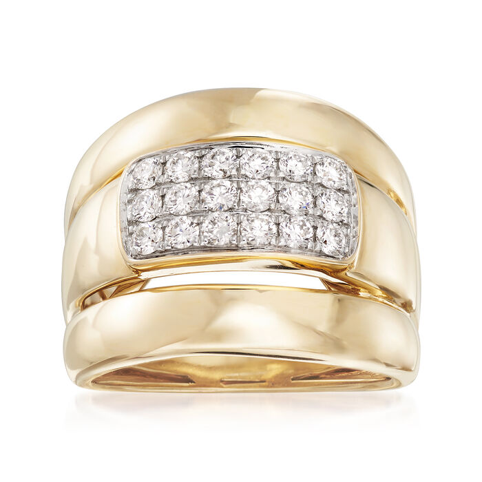 .60 ct. t.w. Diamond Center Ring in 14kt Yellow Gold. Size 7, , default