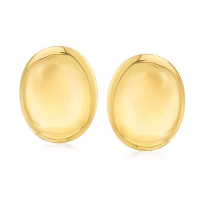 C. 1980 Vintage 18kt Yellow Gold Oval Earrings