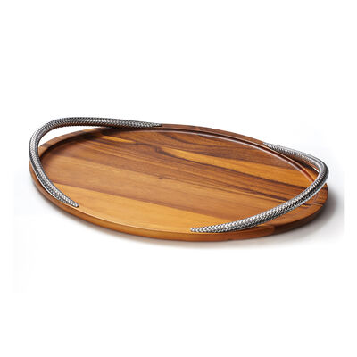 "Nambe ""Braid"" Acacia Wood Serving Tray, , default"