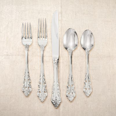 "Wallace ""Antique Baroque"" 18/10 Stainless Steel Flatware  , , default"
