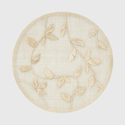 Joanna Buchanan Beige Leaf Straw Placemat