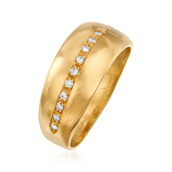 .10 ct. t.w. Diamond Ring in 18kt Gold Over Sterling