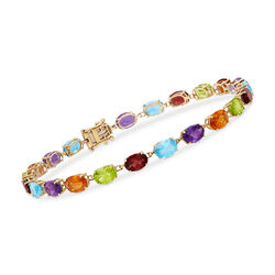 16.20 ct. t.w. Multi-Stone Bracelet in 14kt Yellow Gold, , default