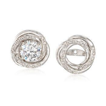 .10 ct. t.w. Diamond Swirl Earring Jackets in Sterling Silver, , default