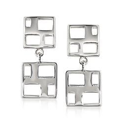 """Zina Sterling Silver """"Windows"""" Drop Earrings, , default"""