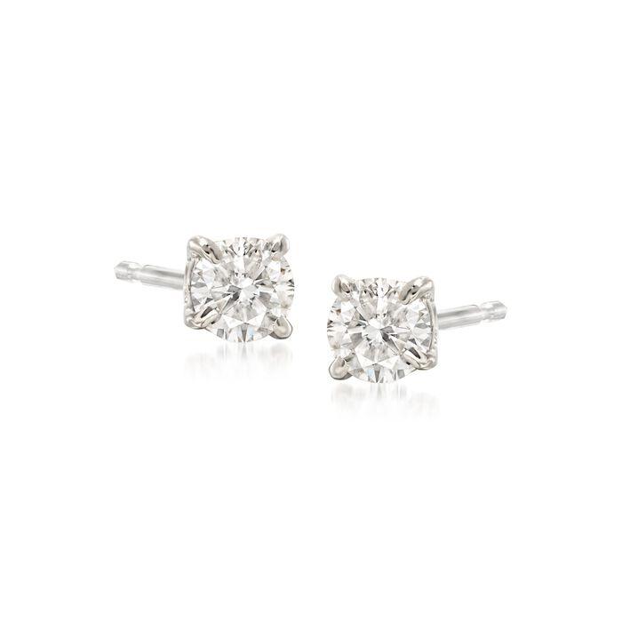 .33 ct. t.w. Diamond Stud Earrings in 14kt White Gold, , default