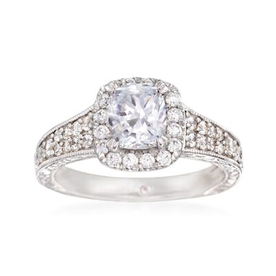 Gabriel Designs .70 ct. t.w. Diamond Engagement Ring Setting in 14kt White Gold