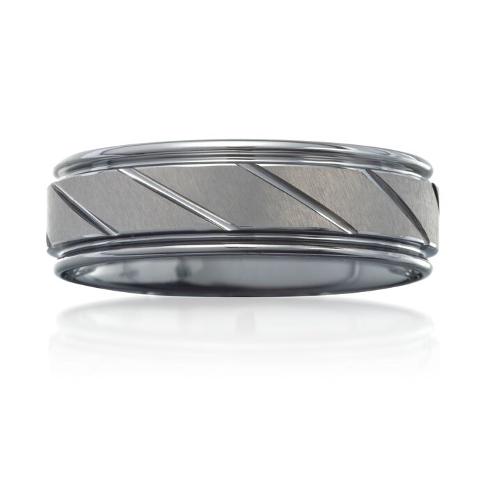 Men's 7mm Tungsten Carbide Wedding Ring