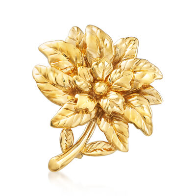 14kt Yellow Gold Flower Pin/Pendant, , default