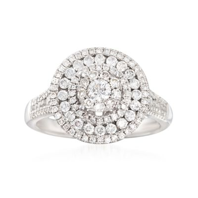 1.00 ct. t.w. Diamond Round Ring in 14kt White Gold, , default