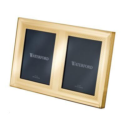 "Waterford ""Lismore Diamond"" Goldtone Double Frame, , default"