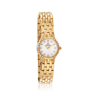 C. 1990 Vintage Concord Women's 20mm .50 ct. t.w. Diamond Watch in 14kt Yellow Gold