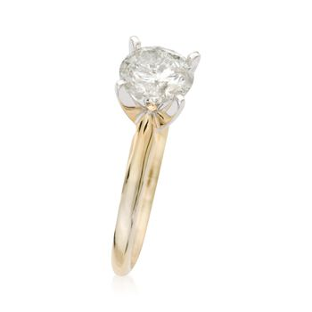 1.50 Carat Diamond Solitaire Ring in 14kt Yellow Gold, , default