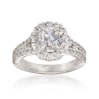 Henri Daussi 1.77 ct. t.w. Certified Diamond Engagement Ring in 18kt White Gold, , default