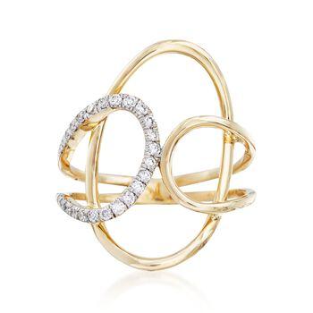 .25 ct. t.w. Diamond Open Loop Ring in 14kt Yellow Gold, , default