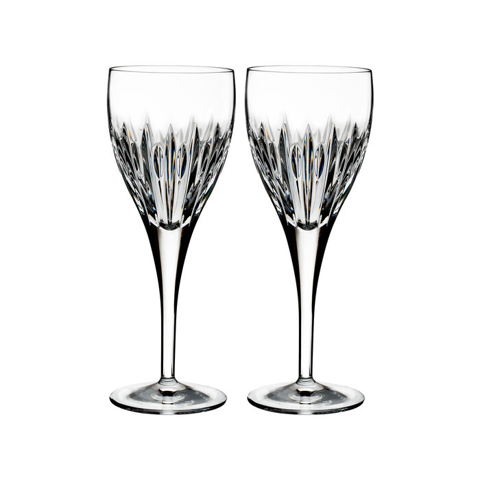 "Waterford Crystal ""Ardan"" Set of Two Mara Wine Glasses"