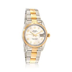 Certified Pre-Owned Rolex Datejust Women's 34mm Automatic Watch in Two-Tone, , default