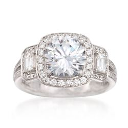 Simon G. .86 ct. t.w. Diamond Engagement Ring Setting in 18kt White Gold, , default