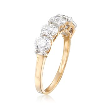 2.00 ct. t.w. Diamond Five-Stone Ring in 14kt Yellow Gold, , default