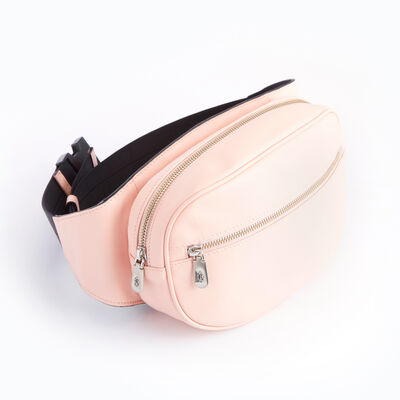 Royce Pink Leather Hip and Crossbody Belt Bag