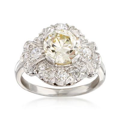 C. 1980 Vintage 3.00 ct. t.w. Diamond Ring in Platinum, , default