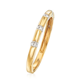 .10 ct. t.w. Diamond Station Ring in 14kt Yellow Gold