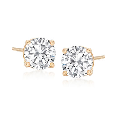 1.60 ct. t.w. Diamond Stud Earrings in 14kt Yellow Gold