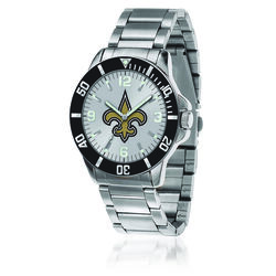 Men's 46mm NFL New Orleans Saints Stainless Steel Key Watch, , default