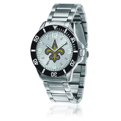 Men's 46mm NFL New Orleans Saints Stainless Steel Key Watch, , default