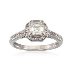 C. 1990 Vintage 1.30 ct. t.w. Diamond Ring in 14kt White Gold. Size 7, , default