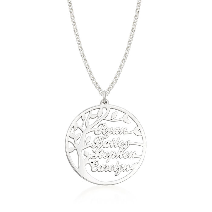 Sterling Silver Personalized Family Tree Necklace