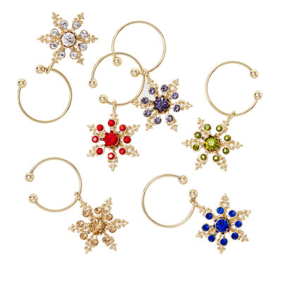 Joanna Buchanan Set of 6 Snowflake Wine Charms