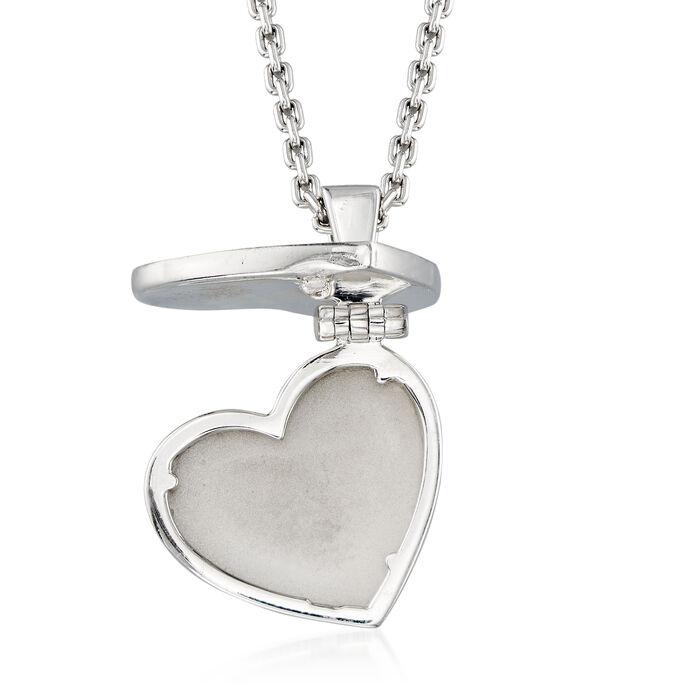 C. 2000 Vintage Louis Vuitton .80 ct. t.w. Diamond Heart Pendant Necklace in 18kt White Gold