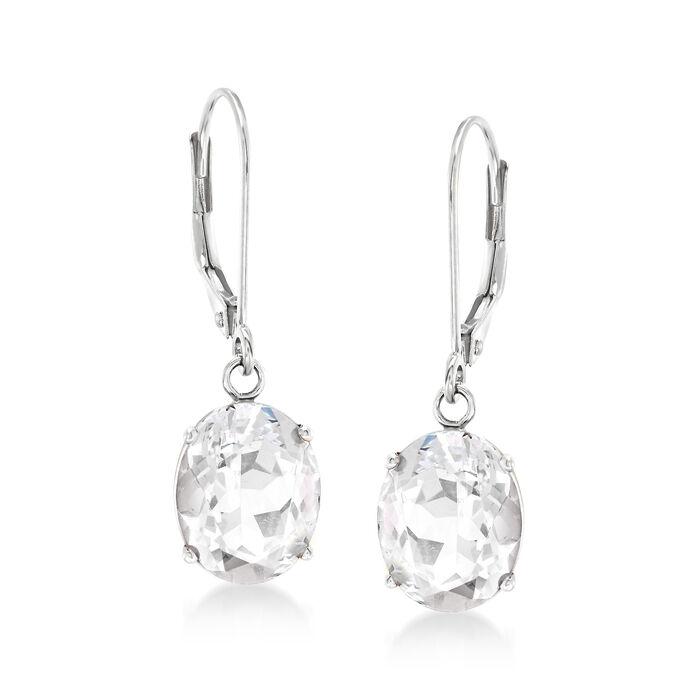 Drop Earrings in 14kt White Gold, , default