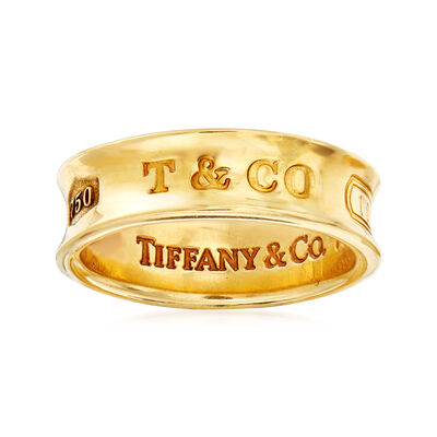 C. 1997 Vintage Tiffany Jewelry 18kt Yellow Gold Band, , default