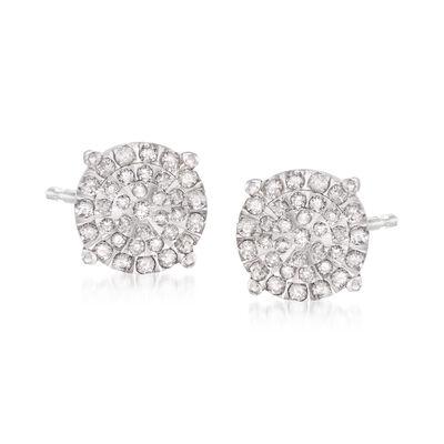 .51 ct. t.w. Diamond Stud Earrings in Sterling Silver, , default