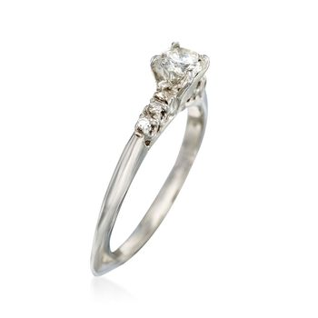 C. 1980 Vintage .52 ct. t.w. Diamond Engagement Ring in 14kt White Gold. Size 8, , default