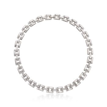 """Roberto Coin """"Retro"""" 1.75 ct. t.w. Diamond Collar Link Necklace in 18kt White Gold. 17"""", , default"""