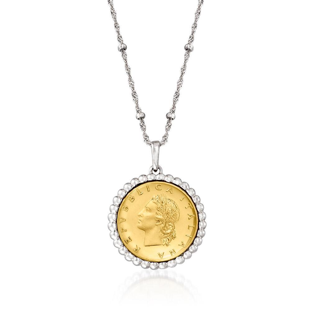 Genuine 20 Lira Coin Pendant Necklace