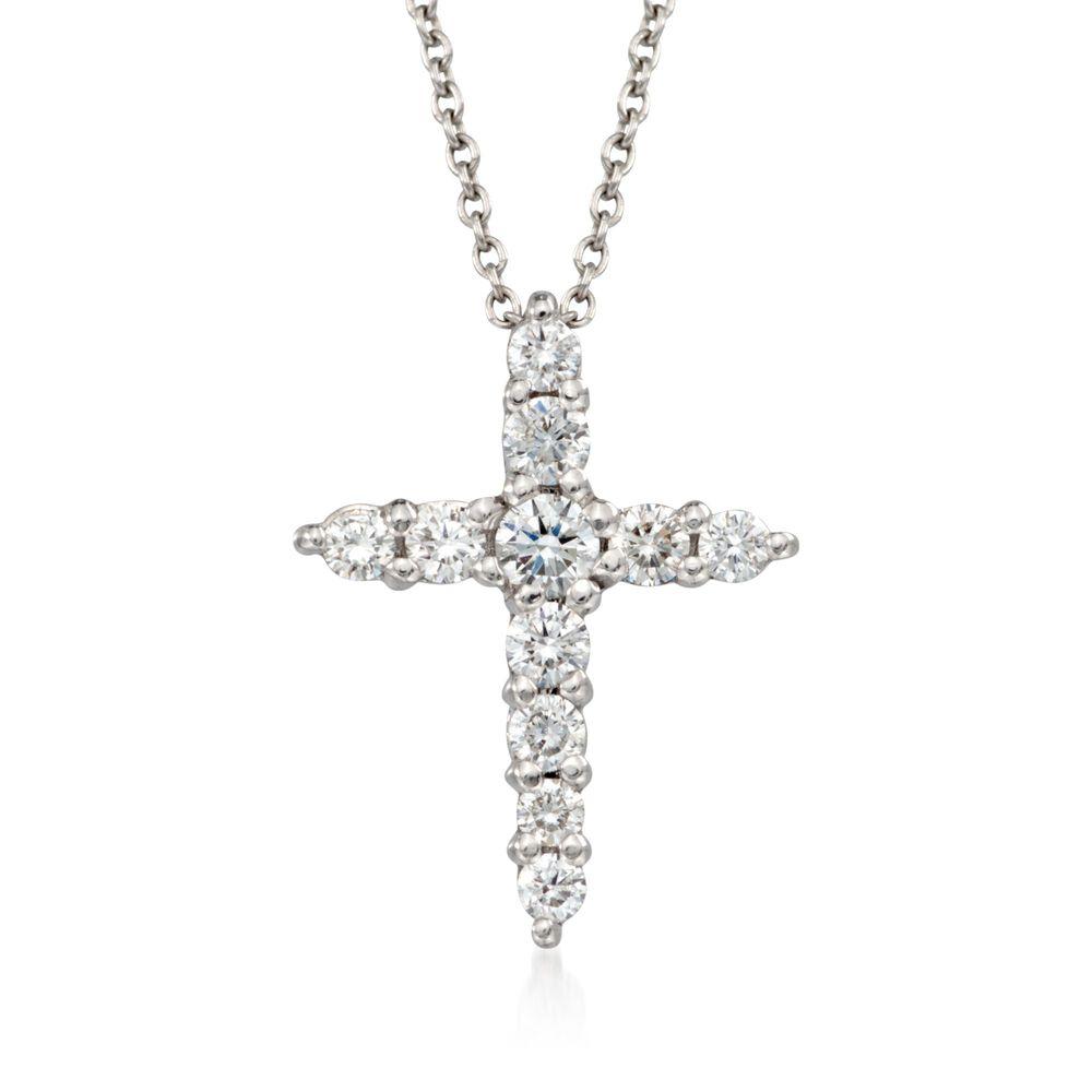 86e74ce70bbd1a Isaac Fine Jewelry Kc Designs 14k White Gold Diamond Baby Cross. T W Diamond  Cross Pendant Necklace In 18kt White Gold. Roberto Coin 39 Ct T W Diamond  Cross ...