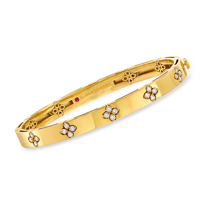 "Roberto Coin ""Love in Verona"" .45 ct. t.w. Diamond Bracelet in 18kt Yellow Gold"