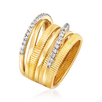 .50 ct. t.w. Diamond Highway Ring in 14kt Yellow Gold. Size 7, , default