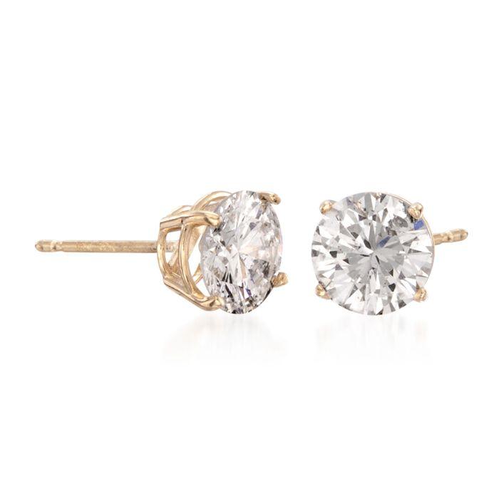 1.50 ct. t.w. Diamond Stud Earrings in 14kt Yellow Gold